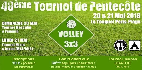 Tournoi de Pentecôte 2018 - Touquet A.C. Volley-Ball & Beach