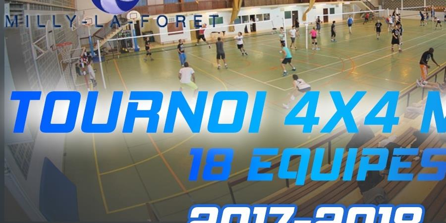 Tournoi 4*4 mixte de printemps - CLUB DE VOLLEY-BALL DE MILLY-LA-FORÊT