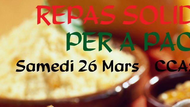 Repas solidaire Per A Pace - PER A PACE
