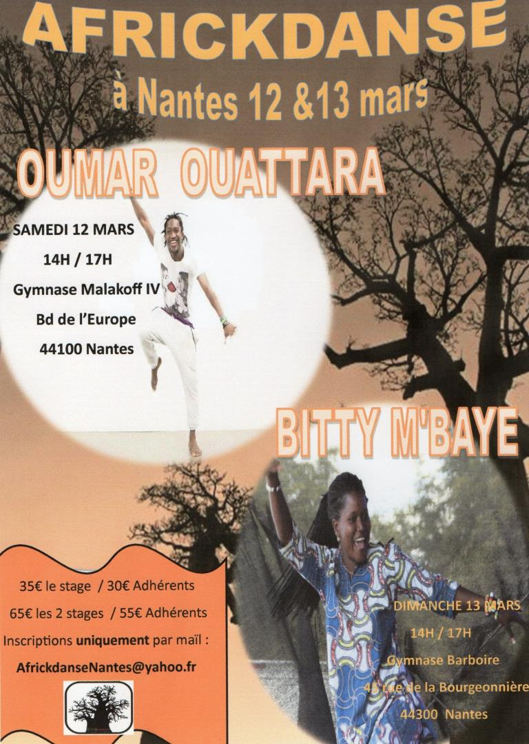 Stage avec Oumar Ouattara & Bitty M'Baye - Association Africkdanse