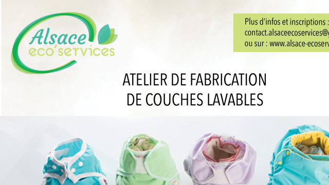 Atelier de fabrication de couches lavables / 5 septembre 2015 - alsace ecoservices