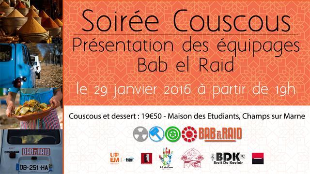 Soirée Couscous - Présentation des équipages Bab el Raid - AS de Coeur