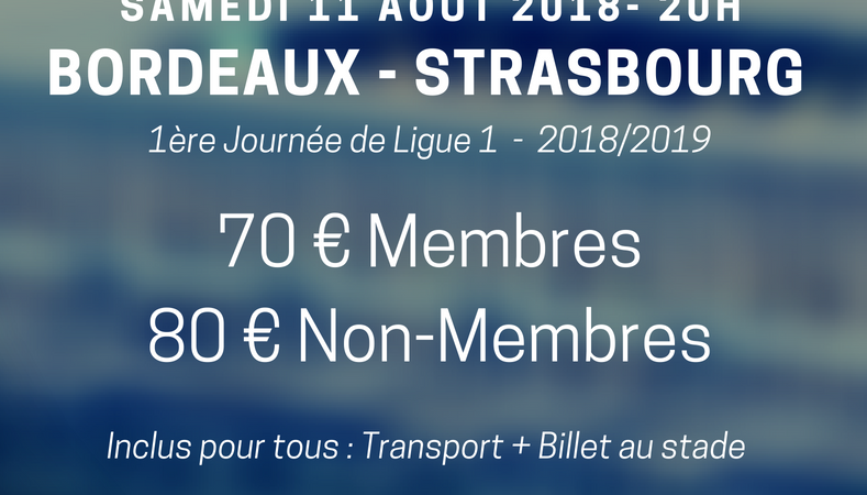 """Déplacement à Bordeaux 11/08 - Club Central des Supporters """"Allez Racing"""""""