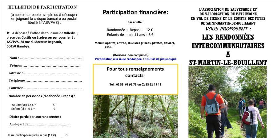Randonnées inter-communautaires  en Val de Sienne - Association de Sauvegarde et de Valorisation du Patrimoine en Val de Sienne