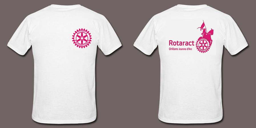 T-SHIRTS Rotaract Orléans Jeanne d'Arc - Rotaract Club d'Orléans