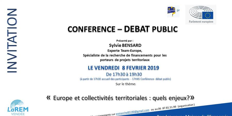 conference debat public projets Europe - consultations citoyennes