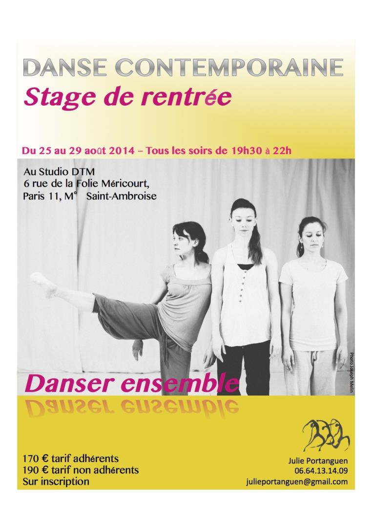 Technique contemporaine : danser ensemble - Julie Portanguen et l'association L'éveil et l'envol