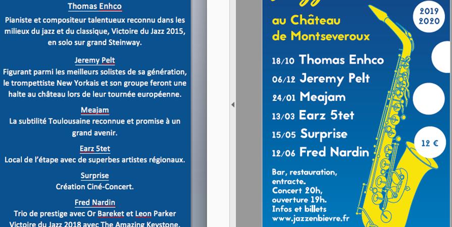 Offre Cadeau - saison 2019   2020 - Jazz en Bièvre