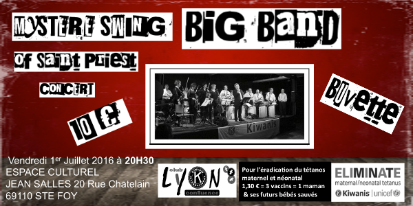 KIWANIS MYSTERE SWING BIG BAND DE SAINT-PRIEST -