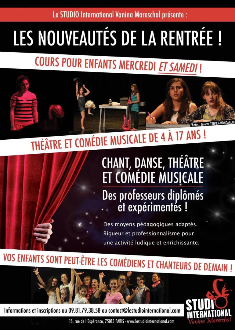 Cours Théâtre - STUDIO International Vanina Mareschal