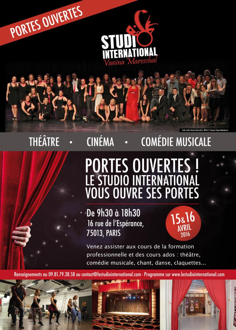 Portes Ouvertes Studio International - STUDIO International Vanina Mareschal