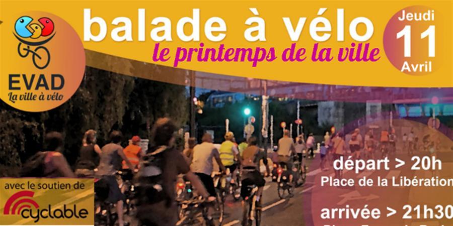 Balade à vélo - jeudi 11 avril 2019 - EVAD