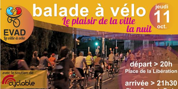 Balade à vélo  - jeudi 11 octobre - 20h - EVAD