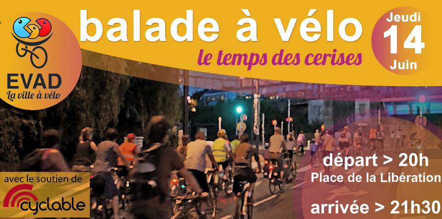 Balade à vélo  - jeudi 14 juin - 20h - EVAD