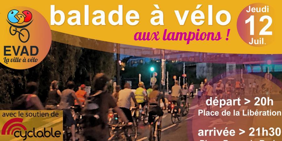 Balade à vélo  - jeudi 12 juillet - 20h - EVAD