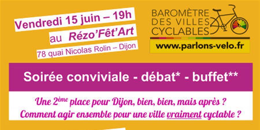 Baromètre des villes cyclables : soirée conviviale, débat, buffet - EVAD