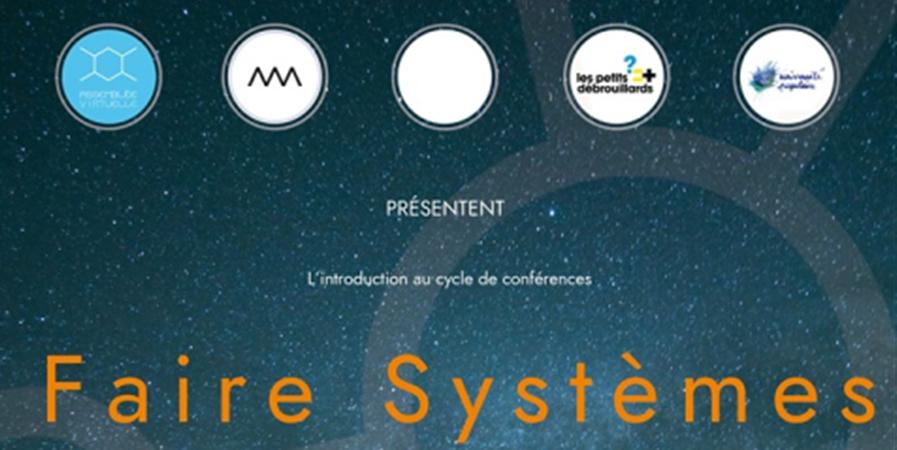 Faire Systèmes : Session inaugurale - Assemblée Virtuelle