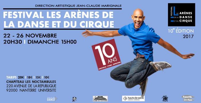 Festival Les Arènes de la Danse et du Cirque - dixième édition           - TOUT EN DANSE