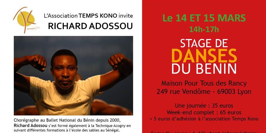 Stage de danse avec Richard Adossou - temps kono