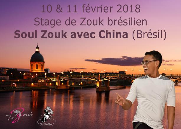 Stage Fevrier Zouk brésilien avec China - Association Club PasoRock