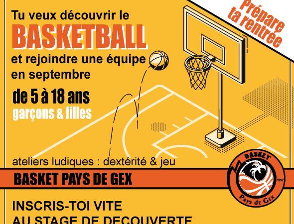 Stage découverte pour les non licenciés - Basket Pays de Gex