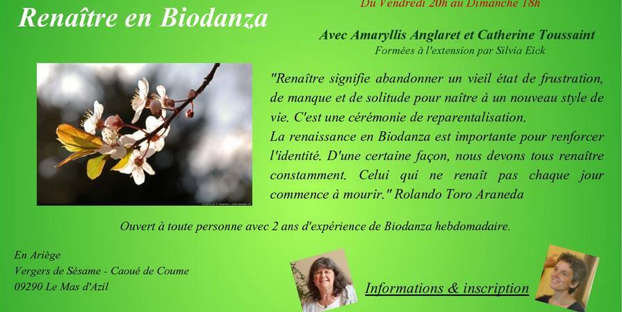 Stage Renaître en Biodanza - Association Amaryllis