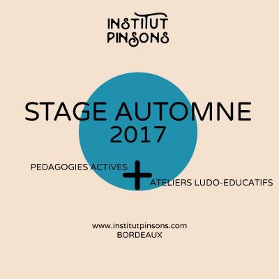 Ateliers Toussaint 3-10 ans - Institut Pinsons à Bordeaux - Institut Pinsons