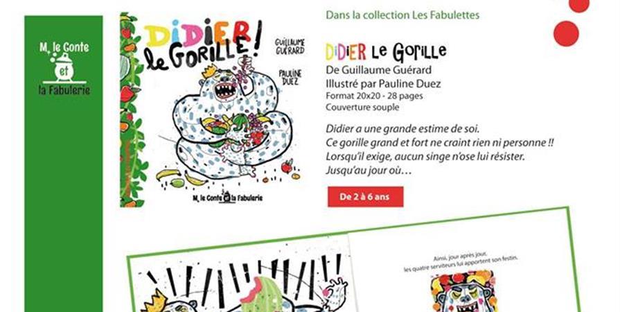 DIDIER LE GORILLE - M LE CONTE ET LA FABULERIE