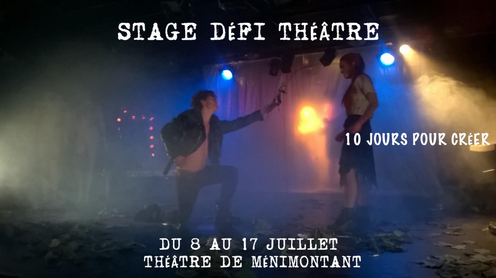 Stage d'été défi théâtre intensif  - Cours CriArt'istes