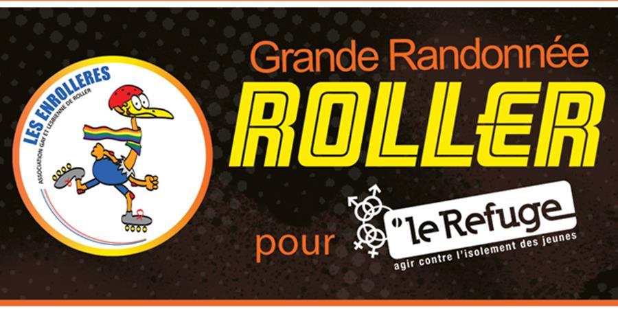 Grande Randonnée Roller pour Le Refuge, le 3 septembre 2017 à Paris - Le Refuge