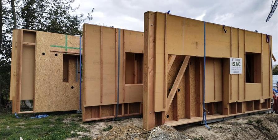 Visite de l'Habitat Sain - Le pré Commun - Chantier ouvert au public - Habitats & Énergies Naturels