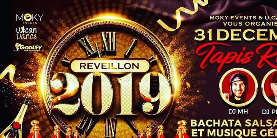 Réveillon 2019 SBK et Musique Généraliste au Thème du Tapis Rouge - MOKY EVENEMENTS