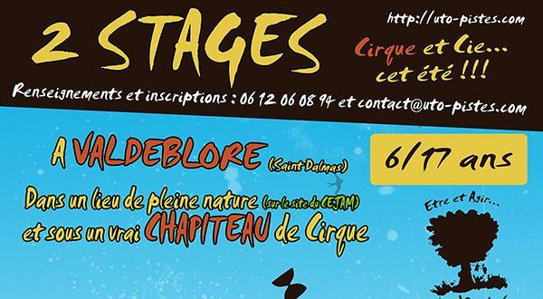 Stage Cirque et Cie... ;0) 6 / 17 ANS - Uto'Pistes