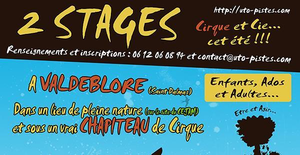 Stage Cirque et Cie... ;0) ENFANTS / ADOS / ADULTES - Uto'Pistes