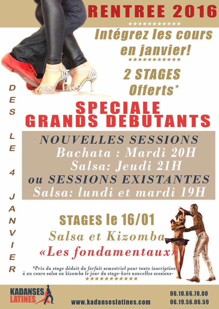 STAGES LES FONDAMENTAUX: 2 stages SALSA et KIZOMBA - Association KADANSES LATINES