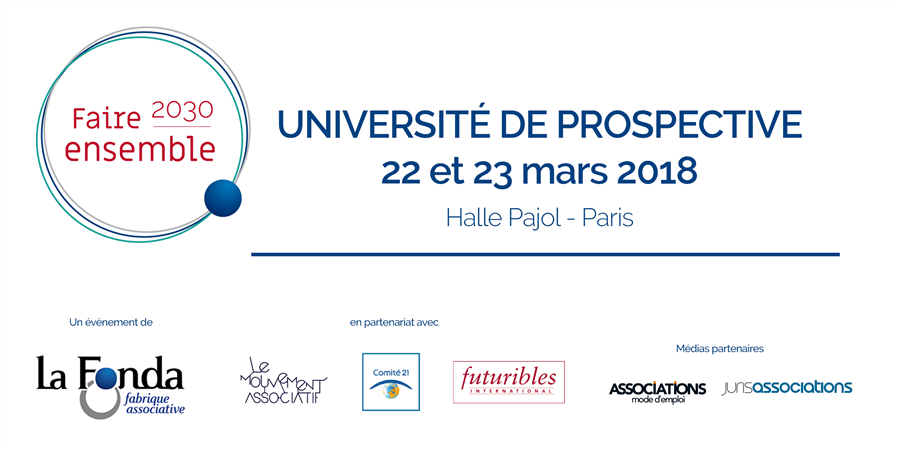 "Université de prospective ""Faire ensemble 2030"" - La Fonda"