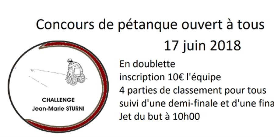 Challenge Sturni - Pétanque Club Oberhoffen