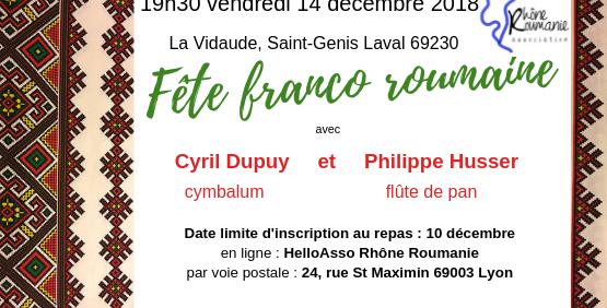 Fête franco-roumaine (tarifs familles / groupes, contacter justforiel@gmail.com) - Rhône Roumanie