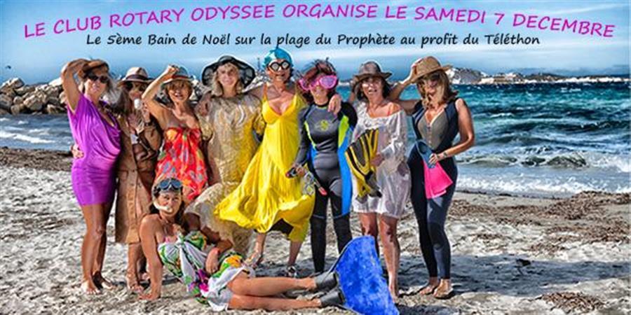 Bain de Noêl au profit du Téléthon - Rotary club Marseille Odyssée