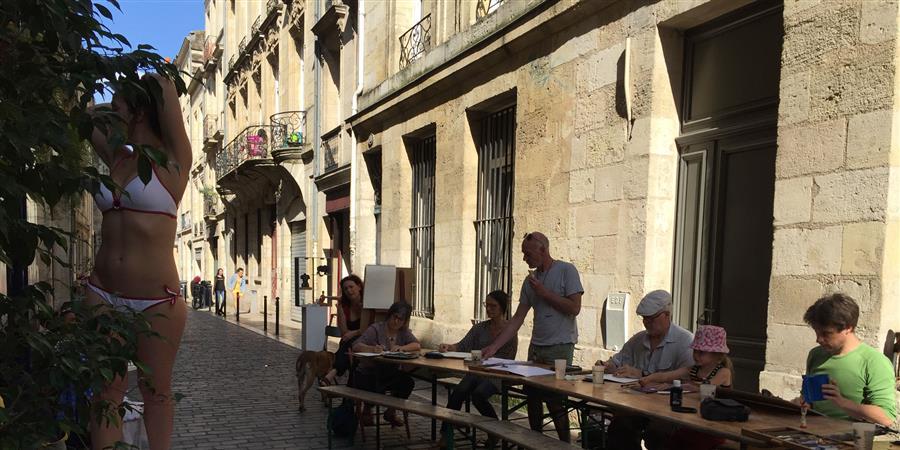 Séance de Dessin sur Rue - L'Ateul de Gaya