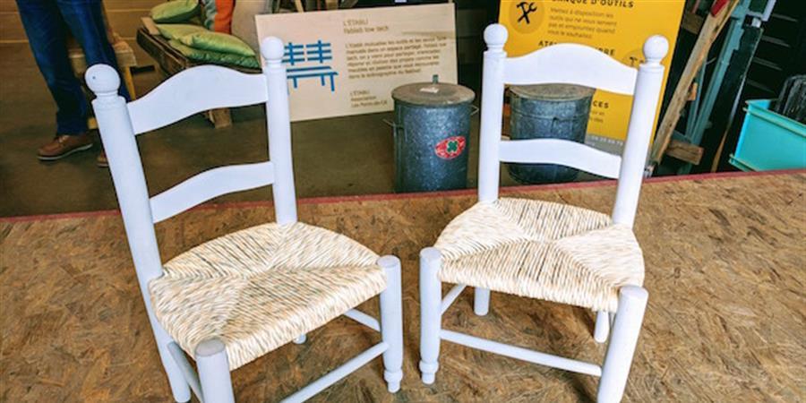Atelier de démonstration et initiation au rempaillage de chaise - L'Etabli