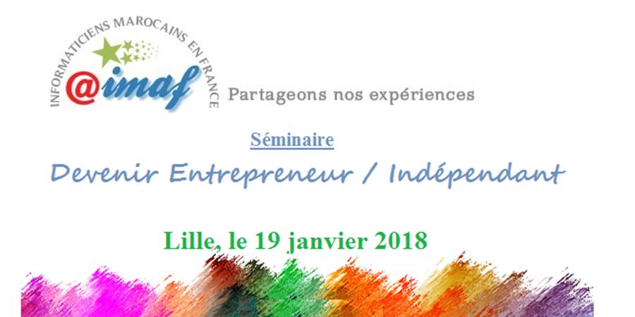 AIMAF Lille Bruxelles 2018 - Devenir Entrepreneur/Indépendant - AIMAF