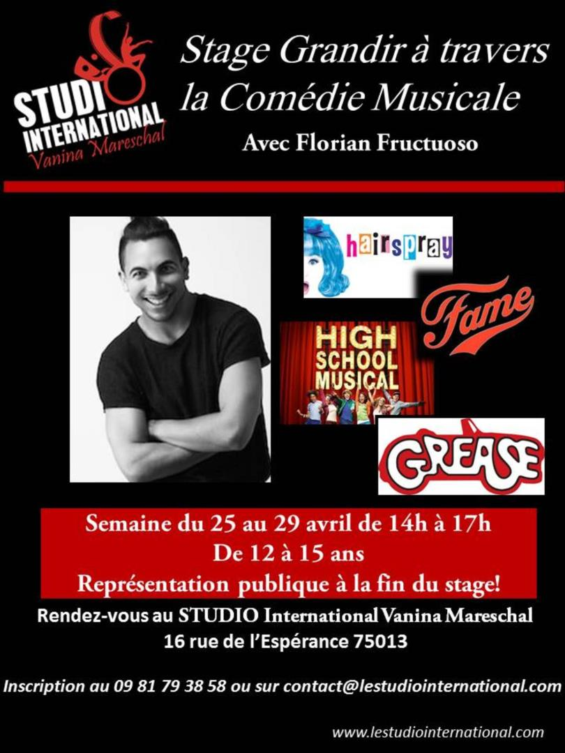 Stage Grandir à travers la Comédie Musicale - STUDIO International Vanina Mareschal