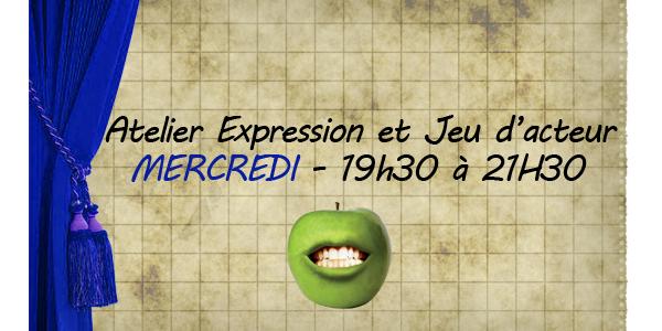 Atelier expression et jeu d'acteur Niveau II - Mercredi 19h30 à 21h30 - Crocs en scène