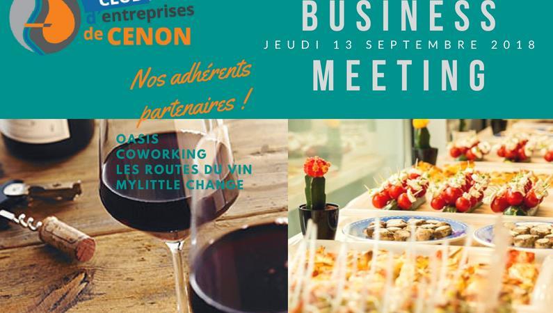 1ère rencontre Business Meeting du CeC - jeudi 13 septembre à 18h30 - - Club d'entreprises de Cenon