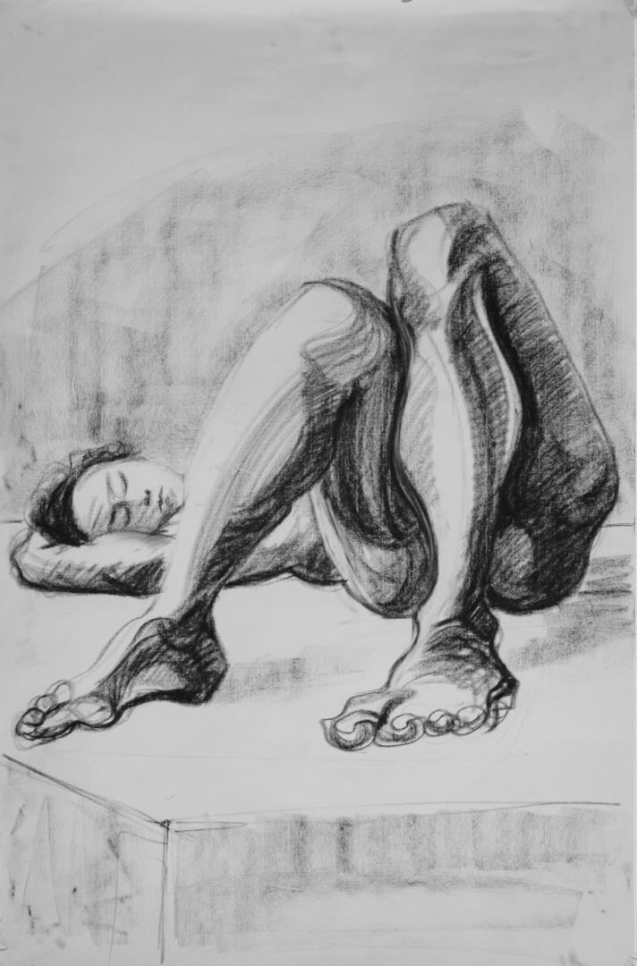 Cours de dessin peinture d'après modèle vivant. - L' Atelier Saint Fargeau