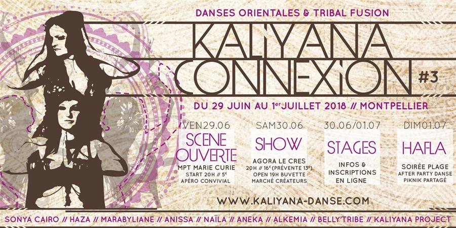 Kaliyana Connexion#3 STAGES // Dimanche 1er Juillet - Kaliyana, Danse Orientale, Tribal Fusion et Danse Indienne
