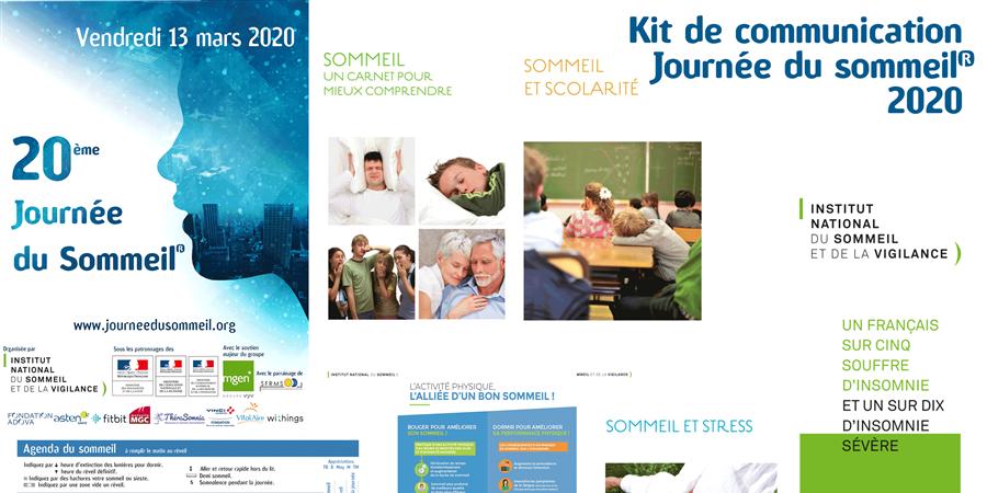 Kit de communication Journée du Sommeil® 2020  - Institut National du Sommeil et de la Vigilance