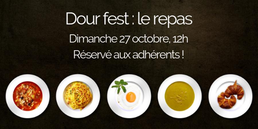 Dour fest - le repas des adhérents - EAU & RIVIERES DE BRETAGNE