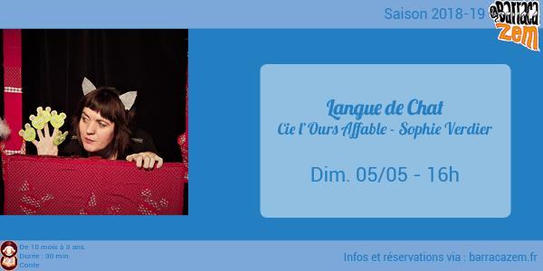 Dimanche - Langue de Chat - Sophie Verdier - Cie l'Ours Affable - Brasil Afro Funk